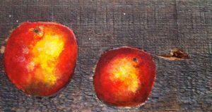 Apfel im Holz 9